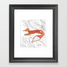 Decorative fox Framed Art Print