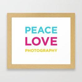 PEACE LOVE PHOTOGRAPHY Framed Art Print
