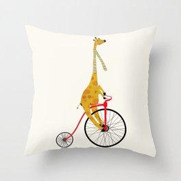 the high wheeler Throw Pillow
