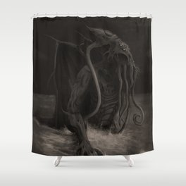 Cthulhu Rises Shower Curtain