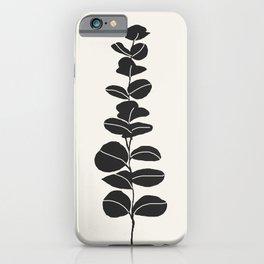Minimal Eucalyptus Line Art iPhone Case
