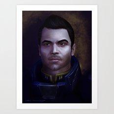 Mass Effect: Kaidan Alenko Art Print
