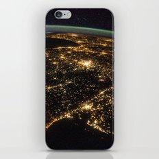 Iberian Peninsula at Night iPhone & iPod Skin