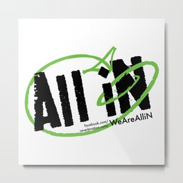All iN Black & Green logo Metal Print