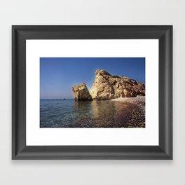 Aphrodite Beach Framed Art Print