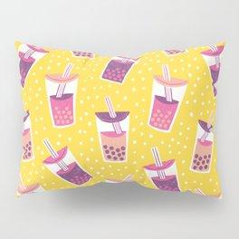 Bubble Tea Boba Pattern Pillow Sham