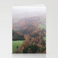 switzerland Stationery Cards featuring FOGGY SWITZERLAND by Megan Robinson