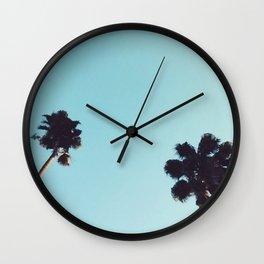 Angeleno Palms Wall Clock