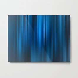Abstract background motion soft blue curtain Metal Print
