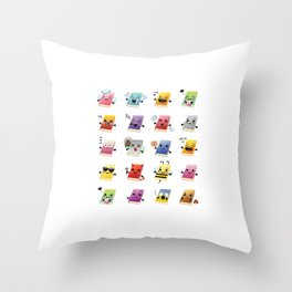 Bookiemoji Party Throw Pillow