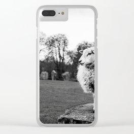 Avebury Sheep Clear iPhone Case