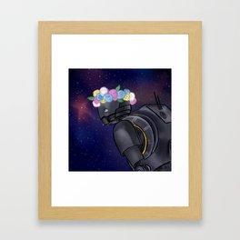 Space Babe Framed Art Print