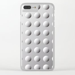 silver bumps Clear iPhone Case