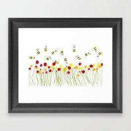 Bee Field Framed Art Print