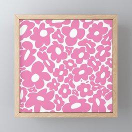 60s 70s Hippy Flowers Pink Framed Mini Art Print