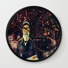 Old man and the tree Wall Clock