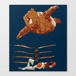 flaying bear Canvas Print