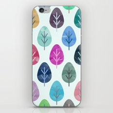 Watercolor Forest Pattern iPhone Skin
