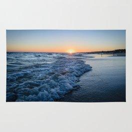 Sunset at the beach in 'Atlántida, Uruguay' Rug