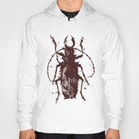 beetle Hoodies featuring Beetle by Bearded Hunter