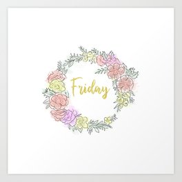 Friday fresh collection golden Art Print