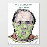 silence of the lambs Canvas Prints featuring The Silence of the Lambs by AdrockHoward