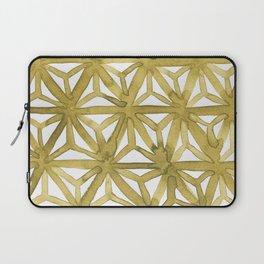 Gold Asanoha Laptop Sleeve