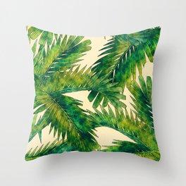 Palms #palm #palms #flower Throw Pillow