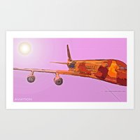 aviation Art Prints featuring AVIATION by PALEOMODERN