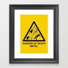 Danger Of Death Metal Framed Art Print