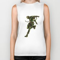 street fighter Biker Tanks featuring Street Fighter Cammy by vanityfacade