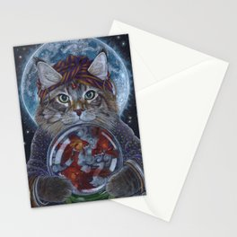 Fortune Teller Cat Stationery Cards
