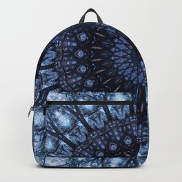 Dark and light blue mandala Backpack