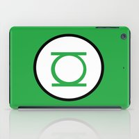 green lantern iPad Cases featuring Green Lantern Symbol by Crayle Vanest