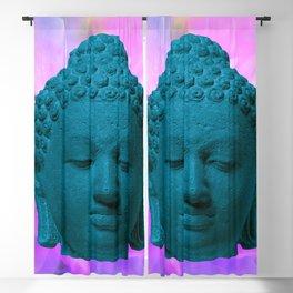 Head of Buddha Indonesia, Java, Borobudur, Sailendra Period, 9th Century early 800s 2 Blackout Curtain