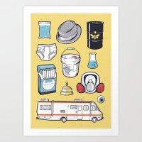 BREAKING BAD // Tattoo Flash Poster // Walter White Jesse Pinkman Art Print
