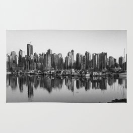 Black and White City Rug