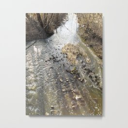 The Winter Brook Metal Print