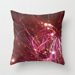 PINK SMASH Throw Pillow