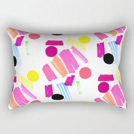 Modern, colorful art collage. Rectangular Pillow