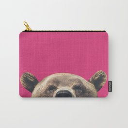 Bear - Pink Carry-All Pouch