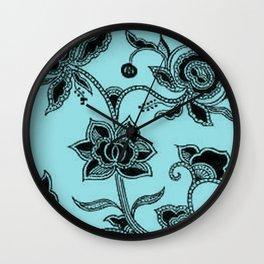 Vintage Floral Island Paradise Wall Clock