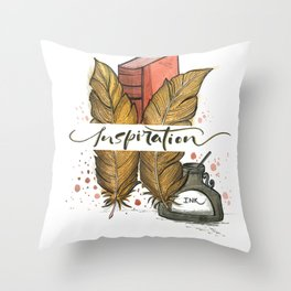 Single word quote - Inspiration Throw Pillow