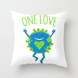 One Love - Earth Day Throw Pillow