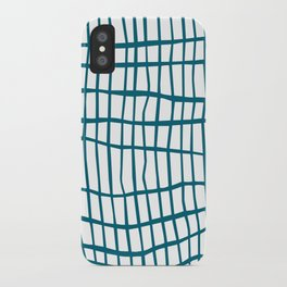 Net Blue on White iPhone Case