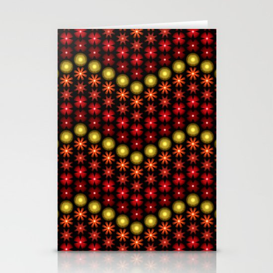 Beaded Chevrons II Stationery Cards