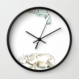 Drilled Wall Clock