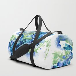 Sea Turtle Turquoise Blue Beach Underwater Scene Green Blue design Duffle Bag