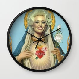 Dolly parton, Saint dolly, Poster Wall Clock