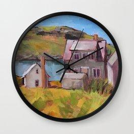 Fish Houses Wall Clock